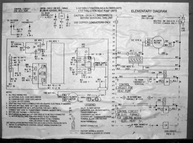 Goodman Heat Pump Wiring Diagram pertaining to Goodman Heat Pump Wiring Diagram