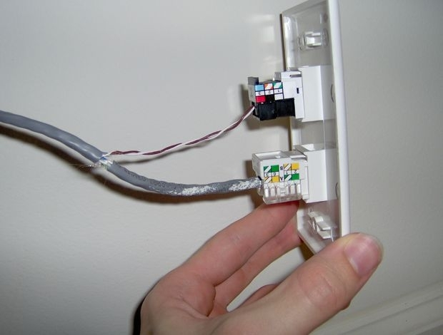 Hack Your House: Run Both Ethernet And Phone Over Existing Cat-5 in Cat 5 Wiring Diagram Wall Jack