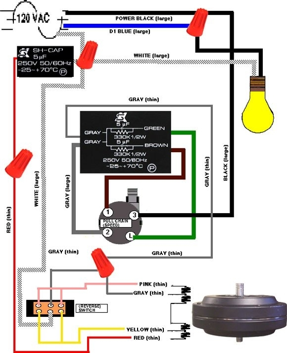 Hampton Bay 3 Speed Ceiling Fan Switch Wiring Diagram within Hampton Bay Ceiling Fan Wiring Diagram