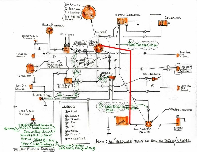 Hand Drawn Wiring Diagram For Xlch - Harley Davidson Forums inside Harley Davidson Wiring Diagram