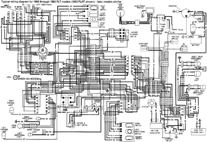 Harley-Davidson Wiring Diagrams And Schematics intended for Harley Davidson Wiring Diagram