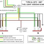 Headlight And Tail Light Wiring Schematic / Diagram - Typical 1973 for Brake Light Wiring Diagram