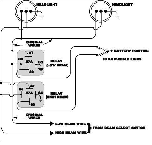 Headlight Relay Installation pertaining to Headlight Wiring Diagram