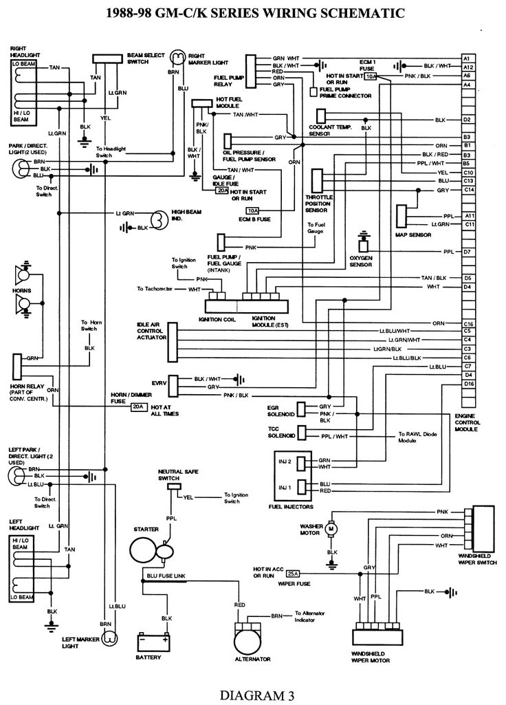 Headlight Wiring Diagram 1995 Chevy Truck. Chevrolet. Automotive intended for 1995 Chevy Silverado Wiring Diagram