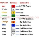 Heat Pump Thermostat Wiring Diagram intended for Heat Pump Thermostat Wiring Diagram