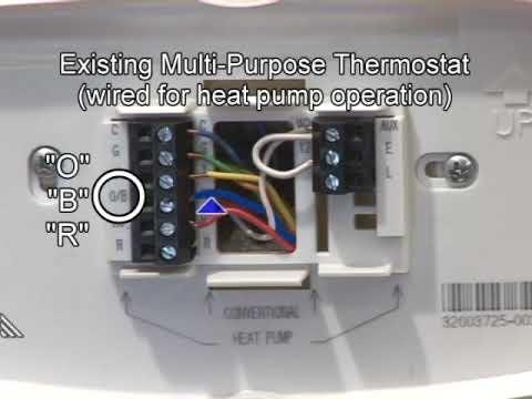 Heat Pump Wiring & Mechanical Settings - Youtube intended for Honeywell Heat Pump Thermostat Wiring Diagram