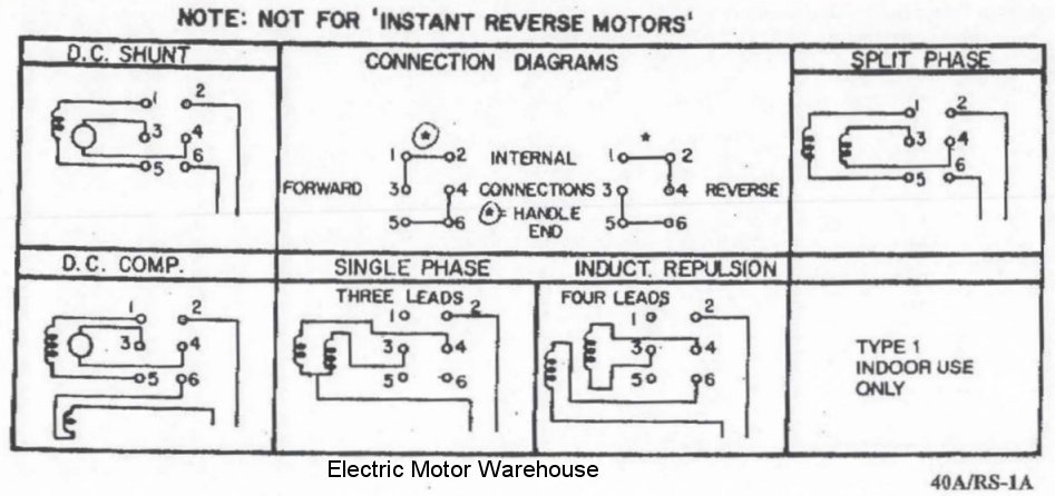 Help Wiring A Single Phase Motor With Reversing Switch For My Lathe. for Electric Motor Wiring Diagram Single Phase
