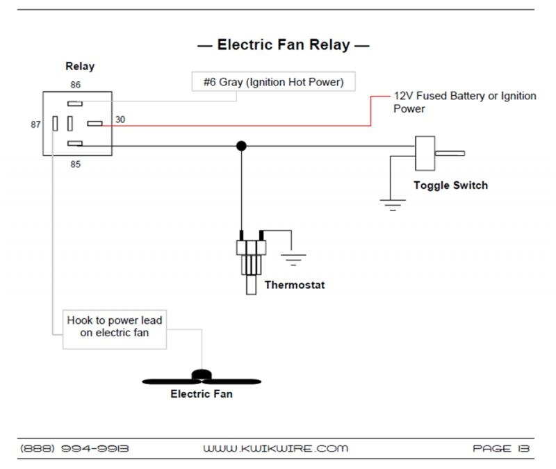 electric fan relay wiring diagram | fuse box and wiring ... electric fan relay wiring diagram for 86 trans am #7