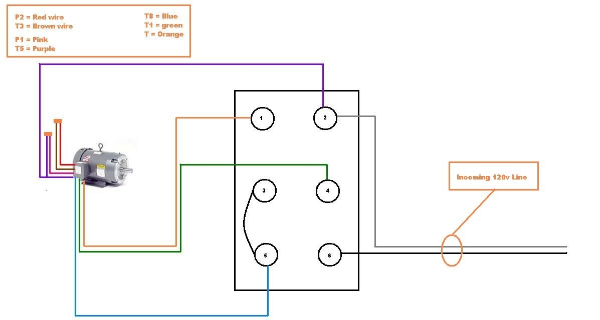 Help Wiring Single Phase 110V Motor To Drum Switch pertaining to 1 Phase Motor Wiring Diagram