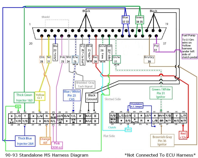 Help Wiring The Ms2 - Miata Turbo Forum - Boost Cars, Acquire Cats. in Megasquirt Wiring Diagram