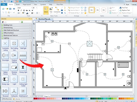 Home Wiring Plan Software - Making Wiring Plans Easily within Free Software For Electrical Wiring Diagram