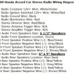 Honda Accord Questions - What Is The Wire Color Code For A 2000 in 1998 Honda Cr V Radio Wiring Diagram