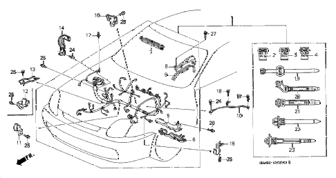 wiring diagram for 1994 honda accord ex with 1998 Honda Prelude Fuse Box Diagram on Honda Prelude Wiring Harness Routing And Ground Location 88 together with T3536462 Firing order 1995 honda accord lx v6 as well 2004 Honda Accord Engine Diagram in addition 99 Ford Windstar 3 8 Engine Diagram likewise 2smdx Radio Cigarette Lighter Stopped Working Checked Fuse.