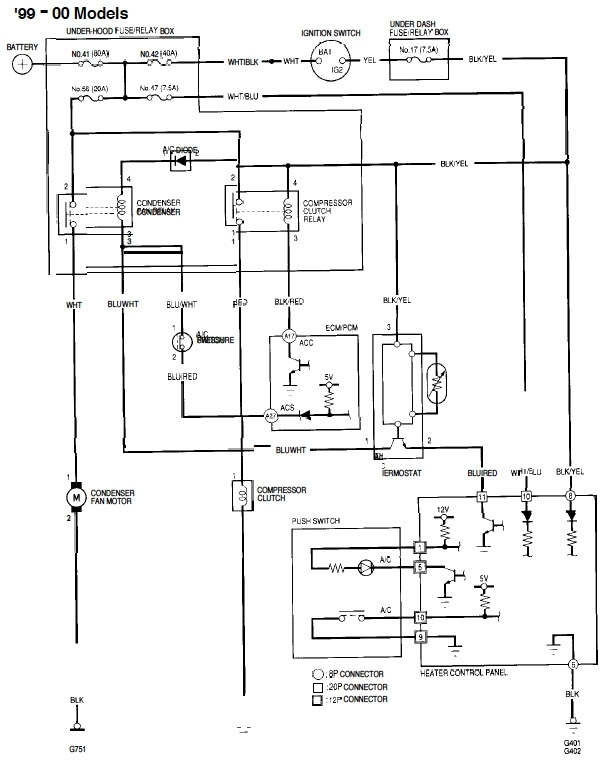 Honda Wiring Diagrams Civic. Honda. Free Wiring Diagrams pertaining to 2000 Honda Accord Ac Wiring Diagram