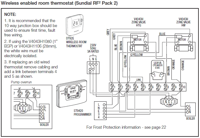 Honeywell Central Heating Wiring Diagram regarding Central Heating S Plan Wiring Diagram