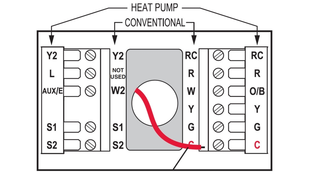 Honeywell Heat Pump Thermostat Wiring Diagram To Honeywell within Honeywell Wiring Diagram