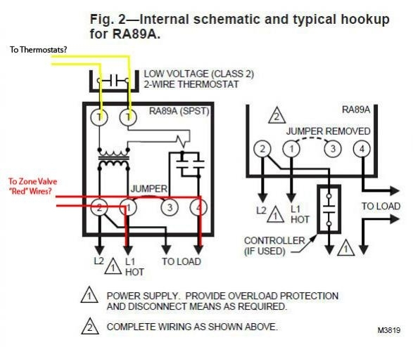 Honeywell Zone Control Valve V8043E1012- Connect To Line Voltage regarding Honeywell Zone Valve Wiring Diagram