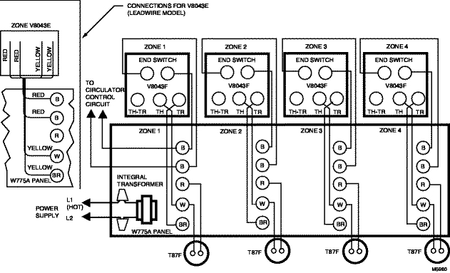 honeywell zone valve wiring diagram | fuse box and wiring ... honeywell fan control wiring diagram #12