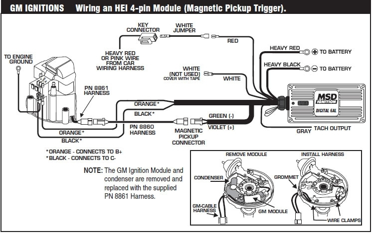 How To Install An Msd 6A Digital Ignition Module On Your 1979-1995 for Msd 6Al Wiring Diagram