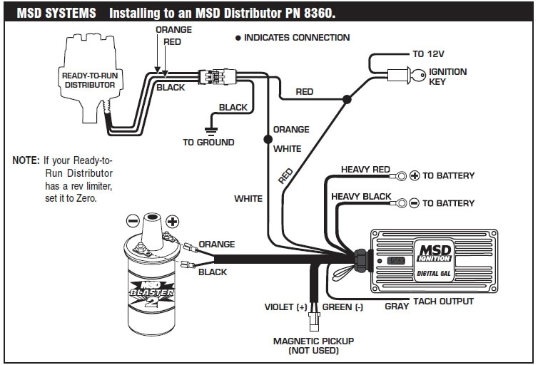 How To Install An Msd 6A Digital Ignition Module On Your 1979-1995 with Msd Wiring Diagram