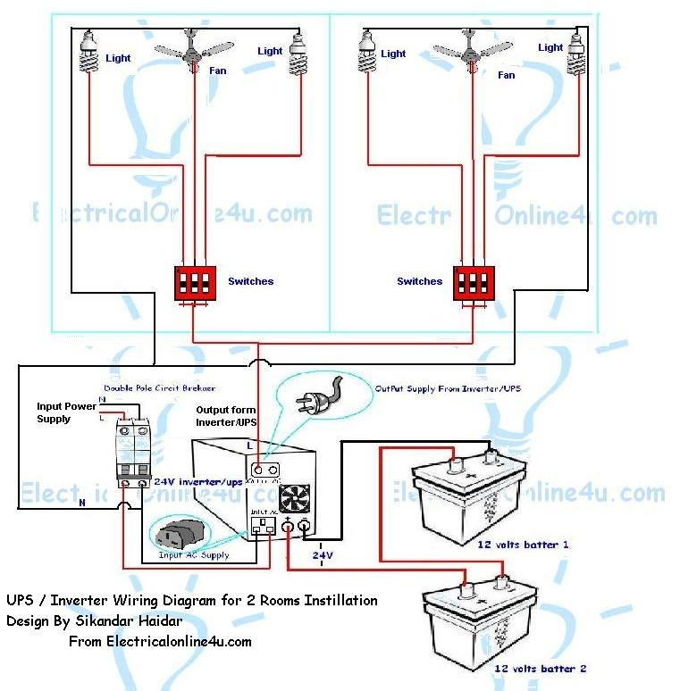 Wiring Diagram For Home Inverter : How to instill ups inverter wiring in rooms with