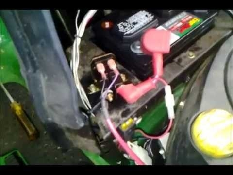 How To Test & Replace A Solenoid On A La125 John Deere Mower - Youtube for John Deere La105 Wiring Diagram