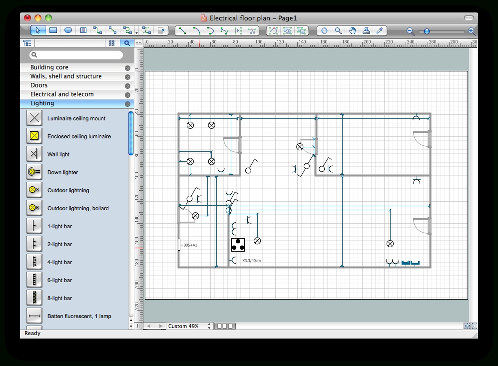 How to use house electrical plan software electrical Home drafting software free