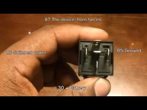 How To Wire A 30/40 Amp Relay - Youtube throughout 12V 30 Amp Relay Wiring Diagram