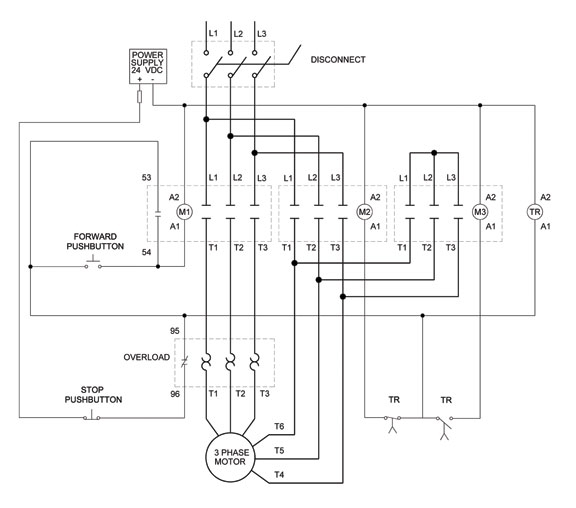How To Wire A Motor Starter | Library.automationdirect in 3 Phase Start Stop Wiring Diagram