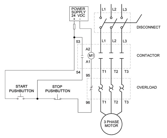 How To Wire A Motor Starter | Library.automationdirect within 3 Wire Stop Start Wiring Diagram