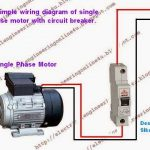 How To Wire A Switched Single Phase Motor Using Circuit Breaker inside Electric Motor Wiring Diagram Single Phase
