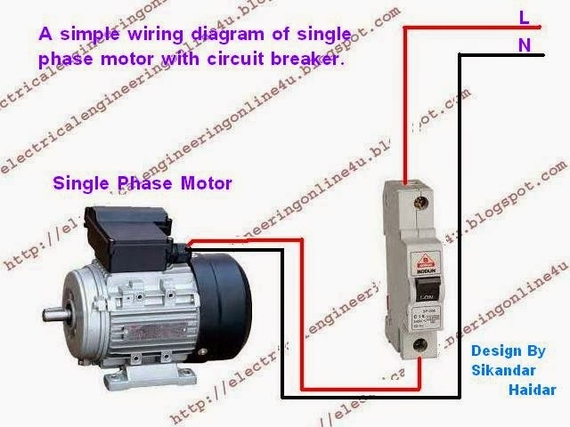 Wiring Diagram Single Phase Electric Motor : How to wire a switched single phase motor using circuit