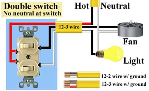 double pole switch wiring diagram