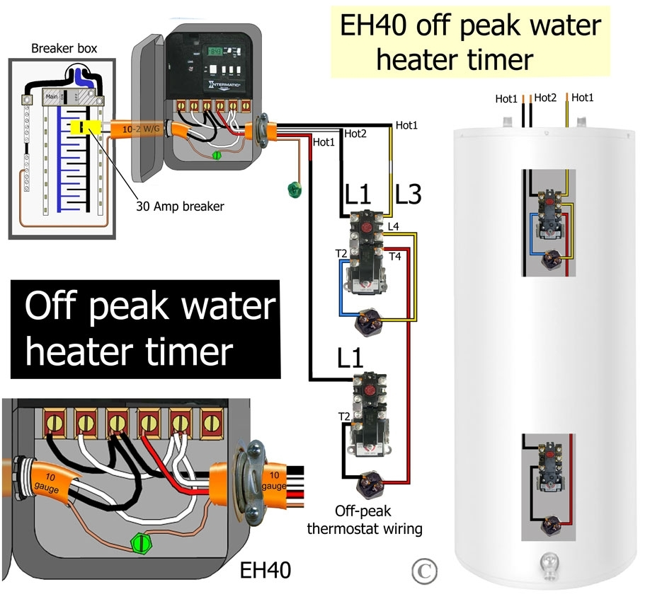 How To Wire Water Heater Thermostat throughout Hot Water Heater Wiring Diagram