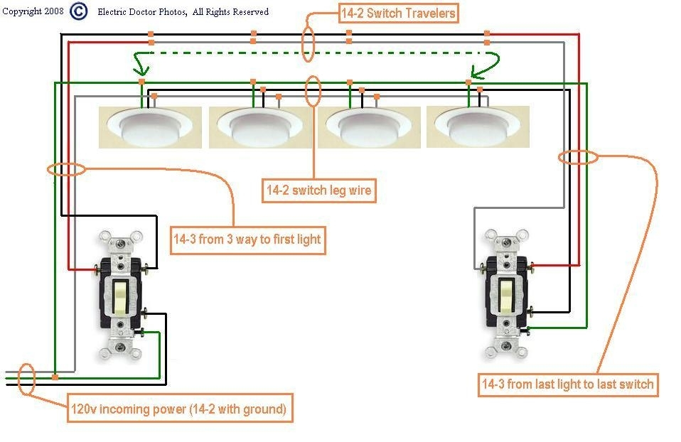 I Need A Diagram For Wiring Three Way Switches To Multiple throughout How To Wire A 3 Way Switch Diagram