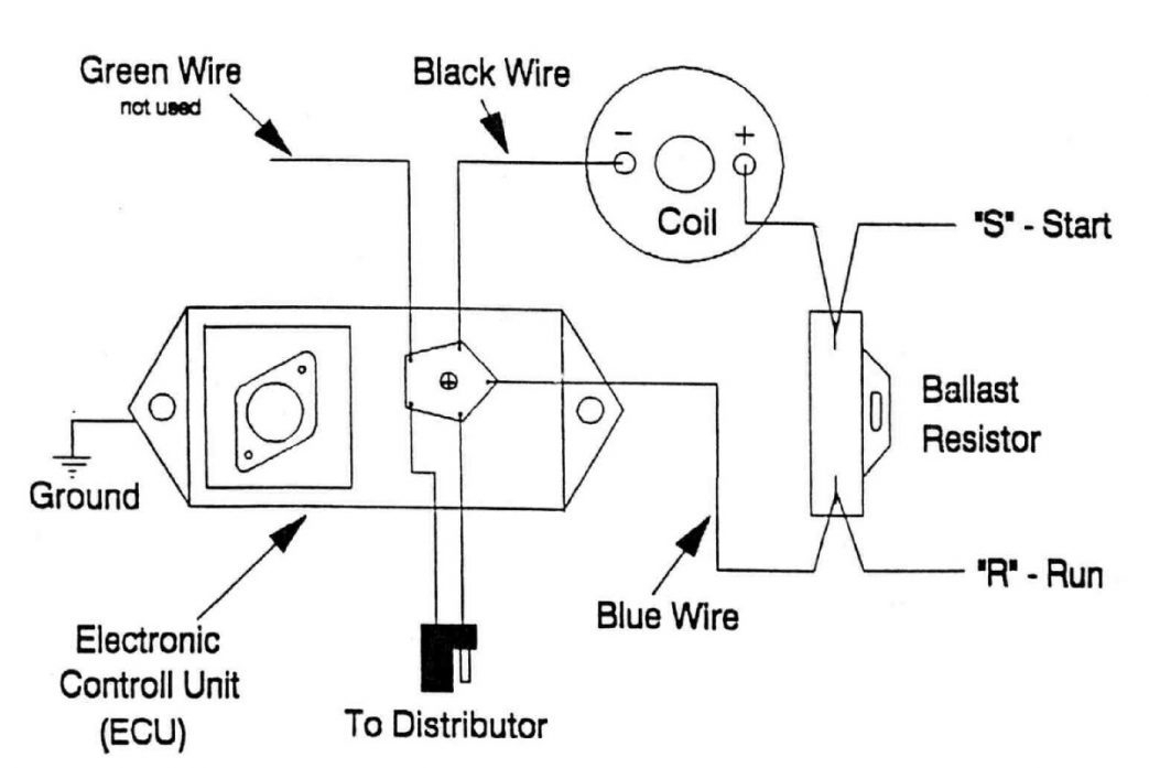 ignition coil ballast resistor wiring diagram regarding