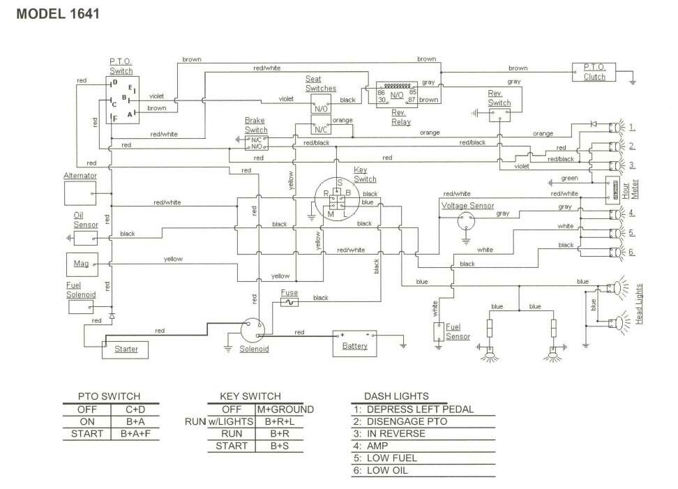 Ih Cub Cadet Forum: Wiring Diagram For 1641 Needed with regard to Cub Cadet Wiring Diagram