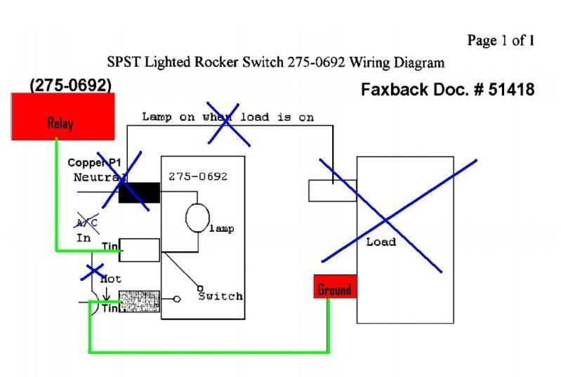 Illuminated Toggle Switch Wiring Diagram in Lighted Rocker Switch Wiring Diagram