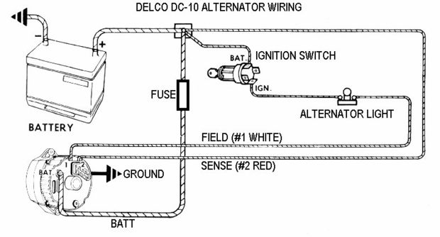 Install A 6 Volt Alternator On Your Old Car!: 7 Steps intended for Delco Alternator Wiring Diagram