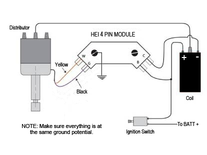 Installing Your New Hei System with Delco Remy Hei Distributor Wiring Diagram