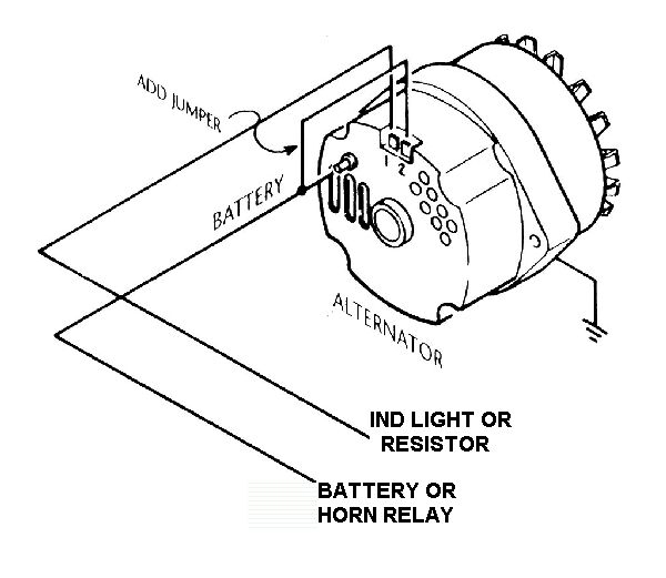 Wiring Diagram For Alternator With External Regulator : Internally regulated alternator w external regulator