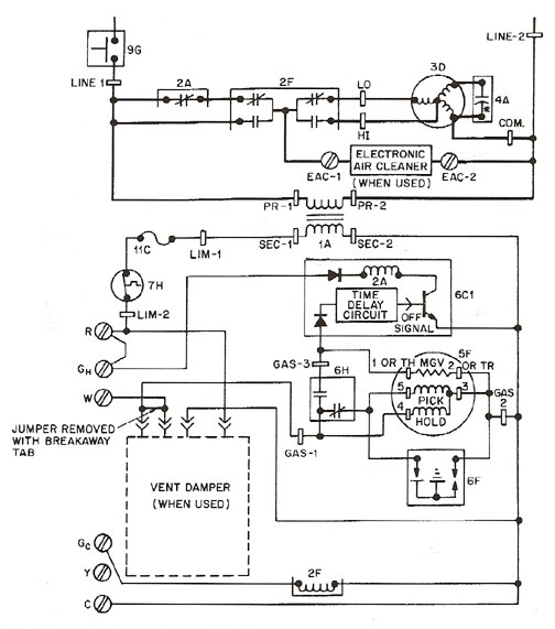 wiring diagram for gas furnace gas furnace schematic diagram mifinder co