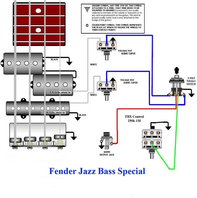 Jazz Bass Special Wiring Diagram | Guitars, Amps & Gear within ...