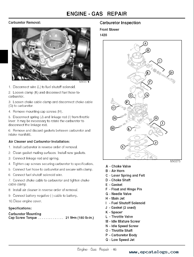 John Deere 1420, 1435, 1445, 1545, 1565 Front Mowers Tm1806 in John Deere 1445 Wiring Diagram