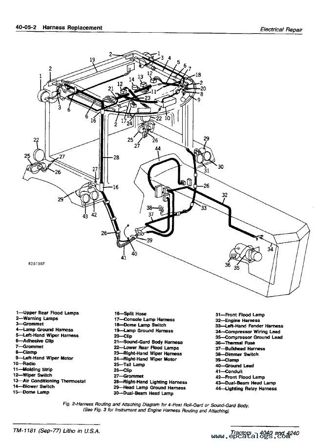 John Deere 4240 Wiring Diagram regarding John Deere 40 Wiring Diagram