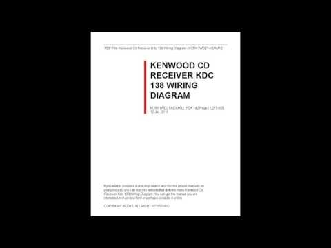 Kenwood Cd Receiver Kdc 138 Wiring Diagram - Youtube inside Kenwood Kdc-138 Wiring Diagram