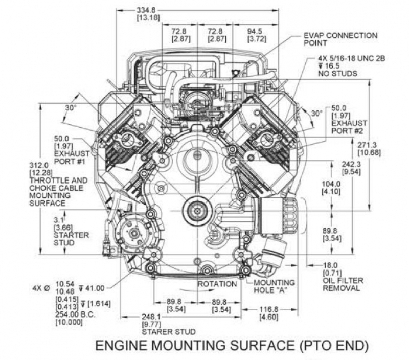 Kohler Engine Zt740-3013 Confidant 25 Hp 747Cc Kubota [Pazt740 regarding Kohler Engine Wiring Diagram