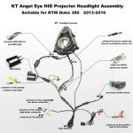 Ktm Duke 390 2013-2014 Hid Projector Led Headlight Assembly 2013 pertaining to Ktm Duke 125 Wiring Diagram
