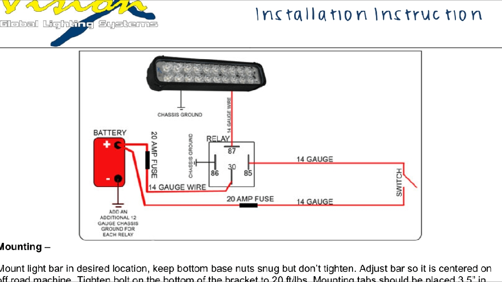 How To Install Wiring Harness For Led Light Bar : Led light bar wiring diagram fuse box and
