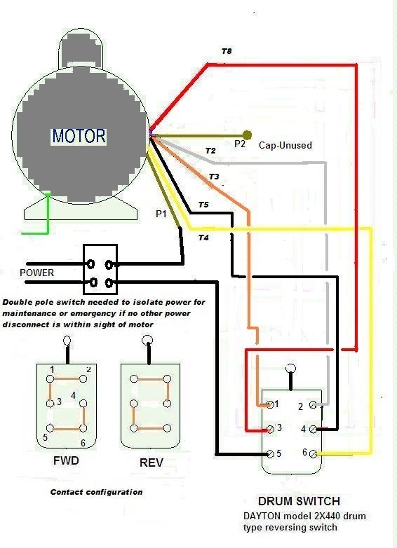 Leeson Single Phase Motor Wiring Diagram intended for 1 Phase Motor Wiring Diagram